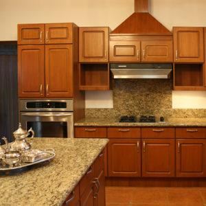 Cocina clásica de madera