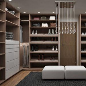 Closet completo y elegante