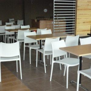 Elegante mesas de restaurante