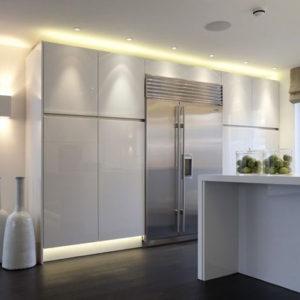 moderna cocina luminosa