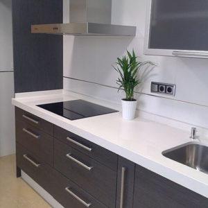 Moderna cocina gavetas gris
